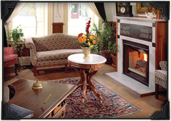 Cedarburg WI Bed and Breakfast Fireplace, Living Room