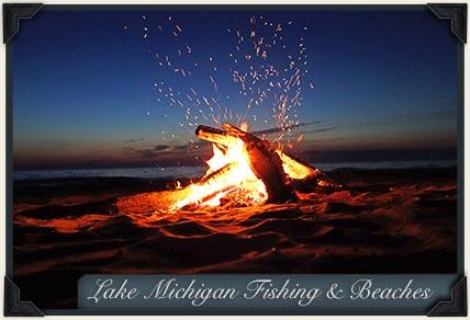 Lake Michigan fishing beaches