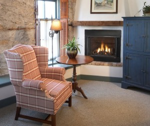 Cedarburg Wisconsin Bed and Breakfast - Chair and fireplace