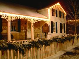 Kuhefuss House Christmas in Cedarburg