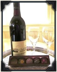Special Package of truffles and red wine