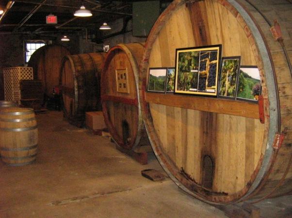 Wine barrels at Cedarburg winery