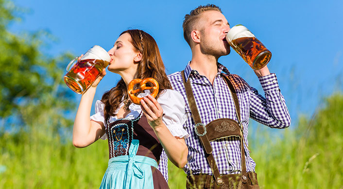 Couple enjoying Oktoberfest