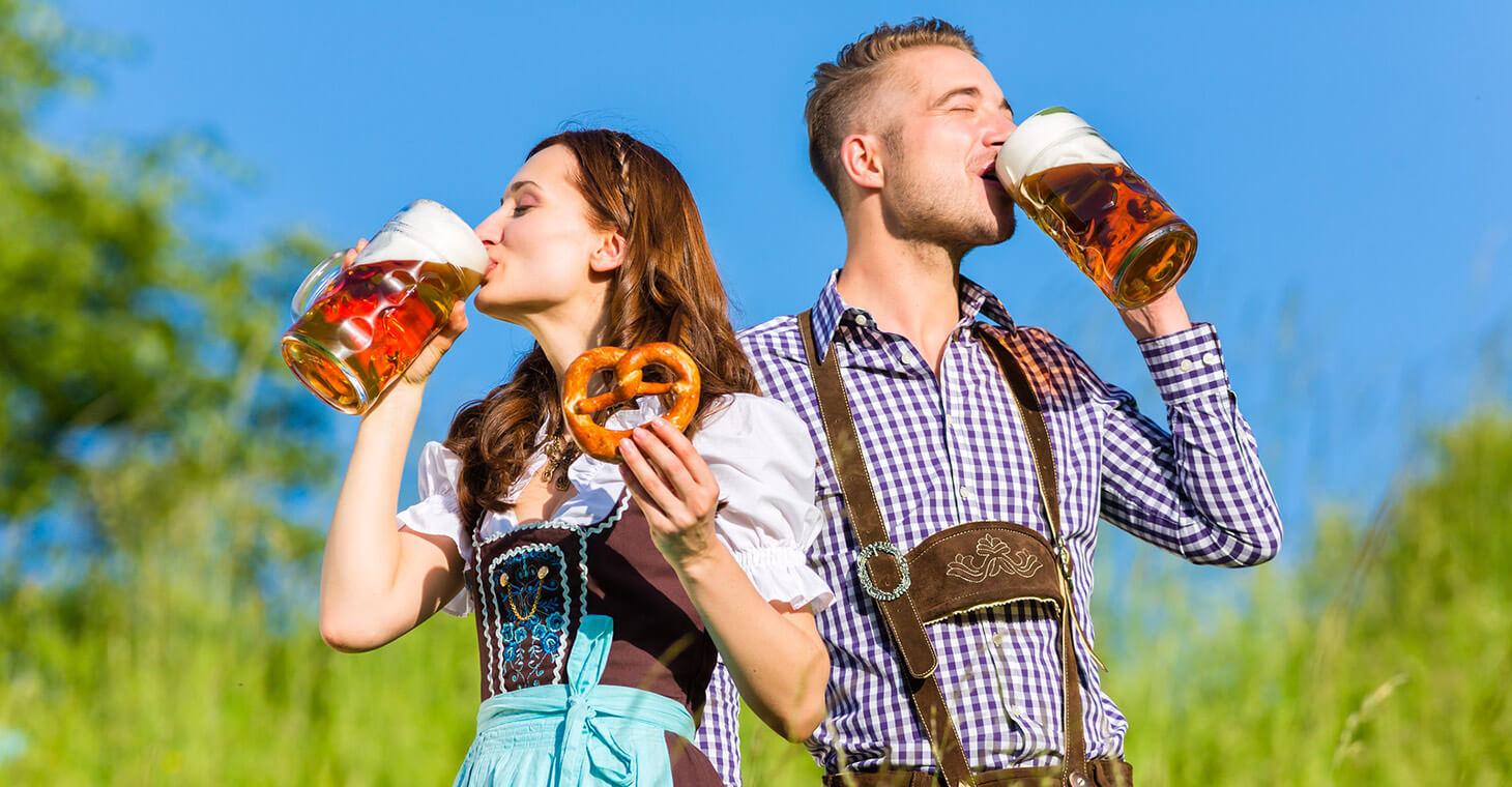 Couple enjoying Oktoberfest