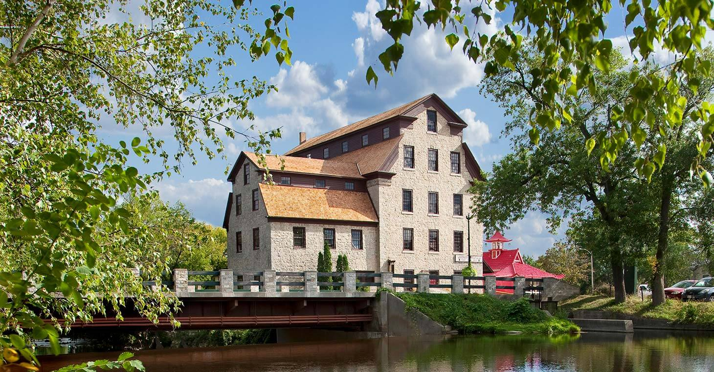 Cedar Creek Mill Building in Wisconsin