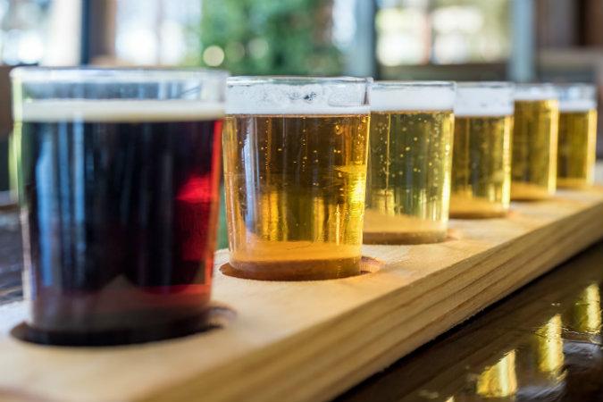 Wisconsin Beer Festival - The CedarBrew Beer Tasting Flight of beer