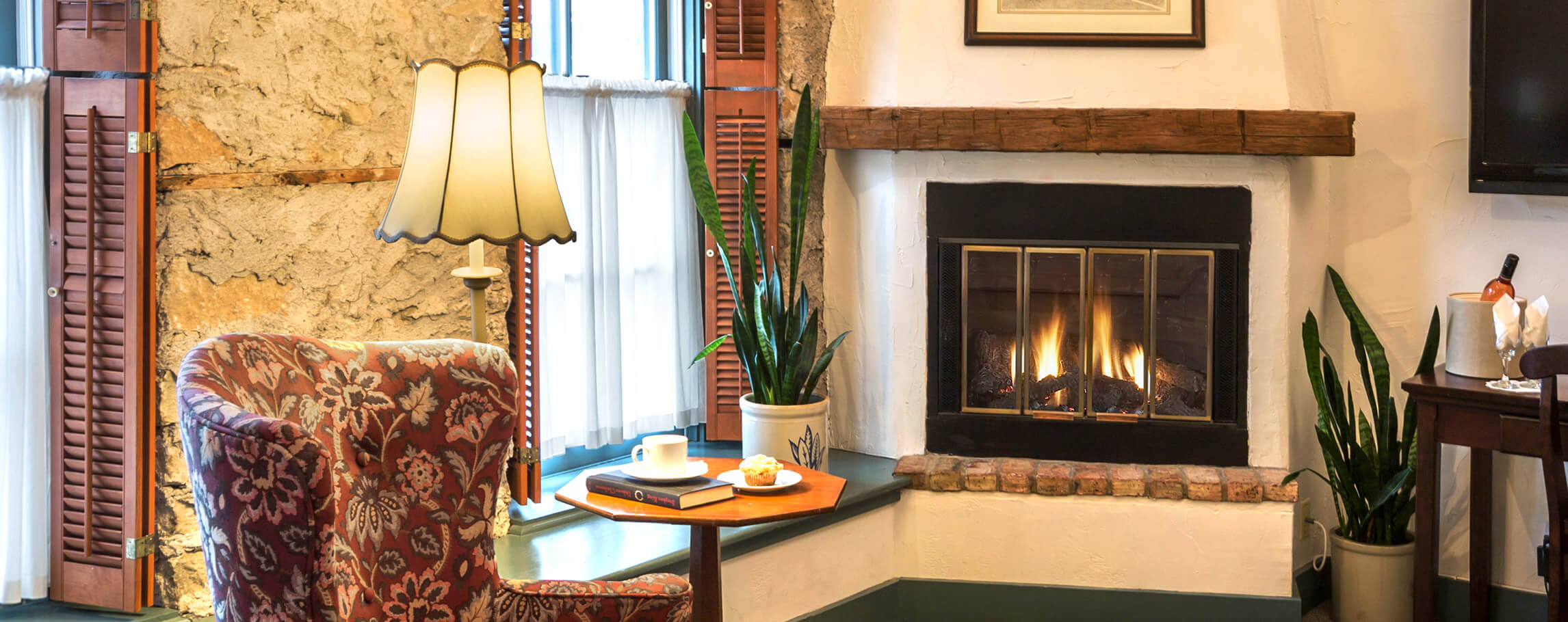 Fireplace in Room 212