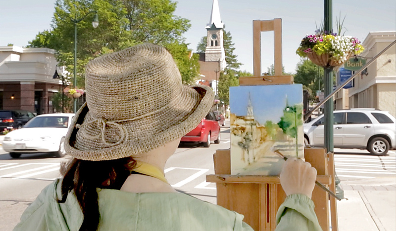Woman Painting at the Cedarburg, WI Plein Arts Festival