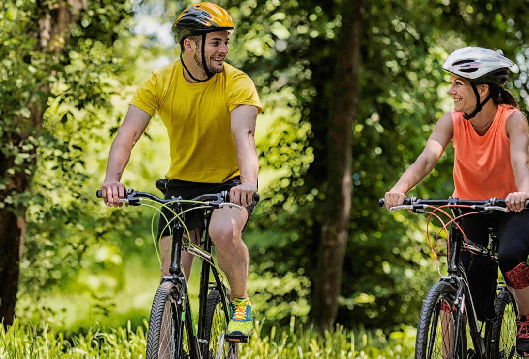 couple on a bike ride