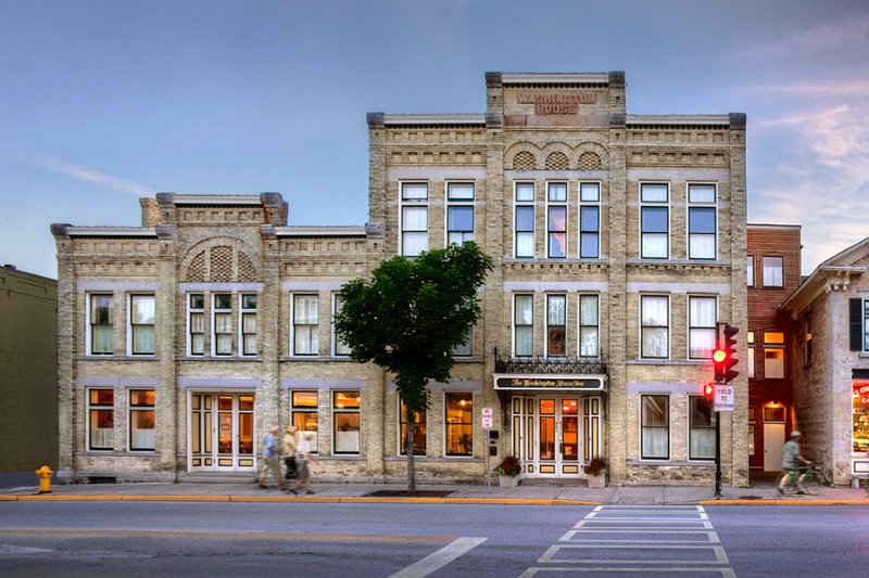 Stay at Washington House Inn, just steps from the Cedarburg Cultural Center