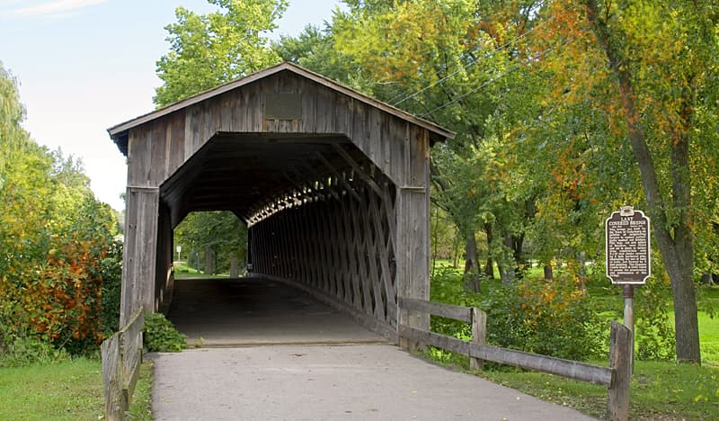 Covered bridge in Wisconsin