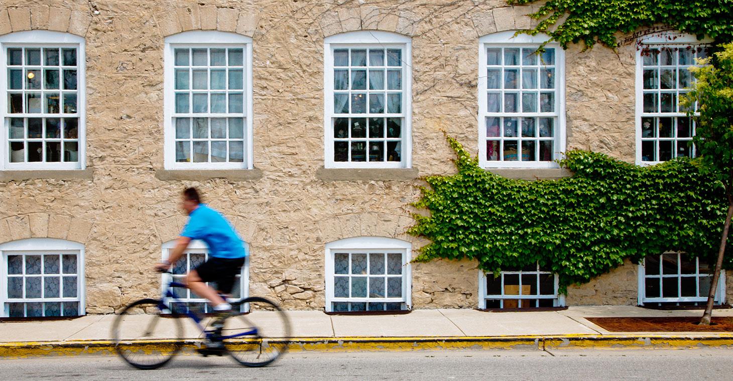 Bicycling at Cedar Creek Settlement