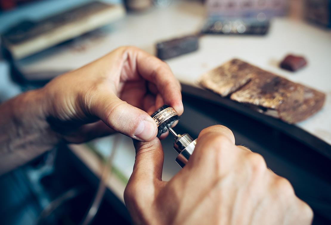 Jeweler Working on Custom Ring