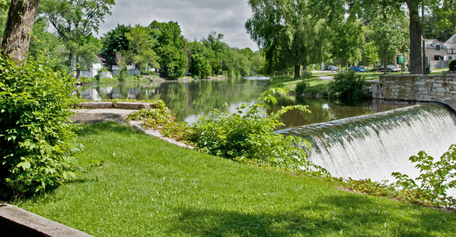 Waterfalls in Cedarburg WI