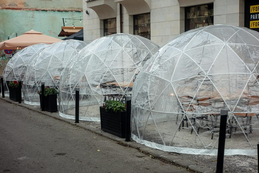 Covid Safe Outdoor Eating Bubble