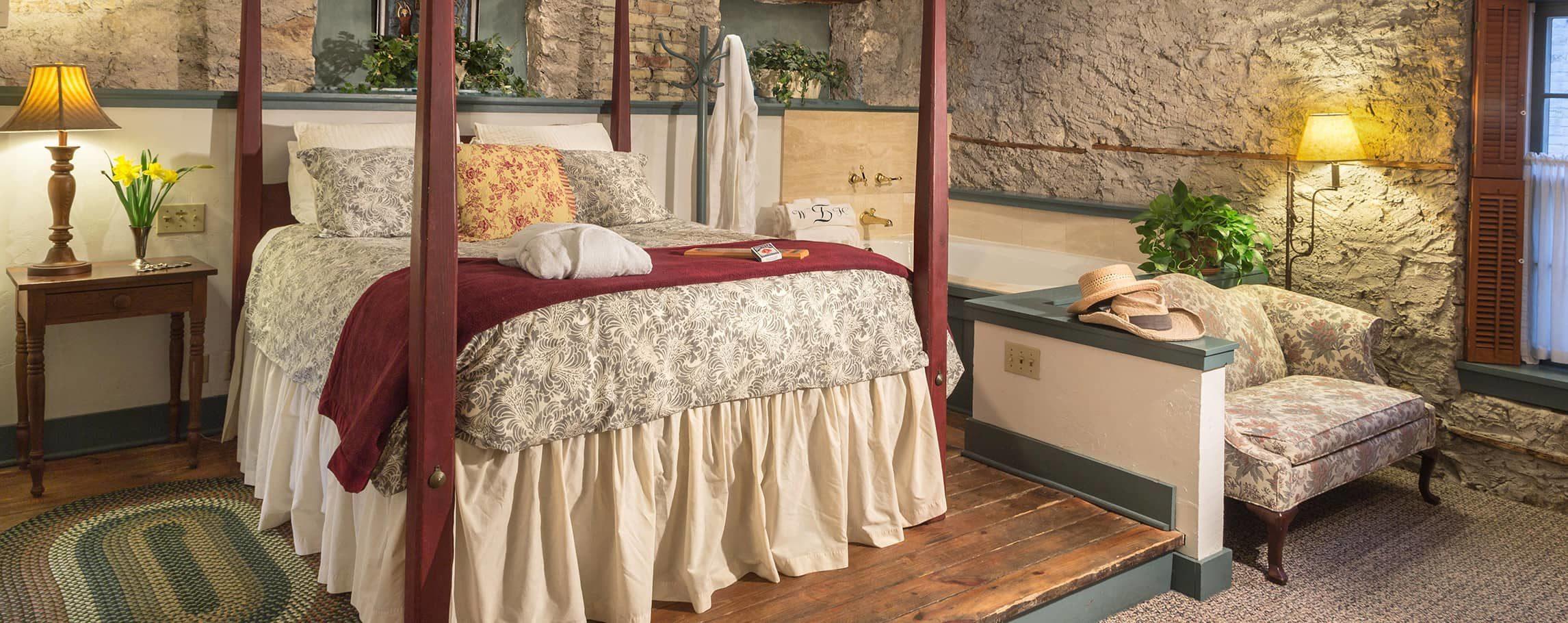 John Roth room bed